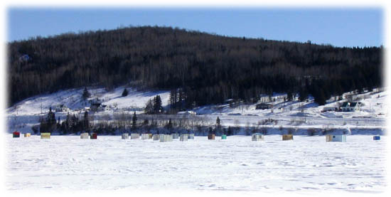 Ice Fishing on Bay of Gaspé